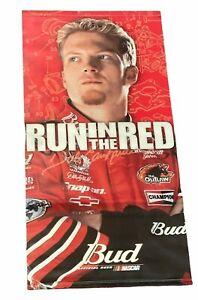 "DALE EARNHARDT JR 2001 Budweiser Bud ""Run In The Red"" 30"" x 60"" Vinyl Banner"