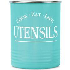 Walford Home Farmhouse Decor Kitchen Utensil Holder - Teal