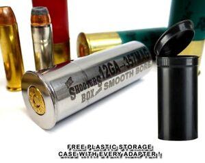 12GA to 357 Magnum Shotgun Adapter - Chamber Reducer - Stainless - Free Case !!!