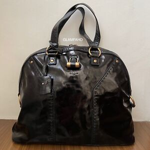 Pre Owned Authentic YSL Muse Patent Leather Shoulder Bag / Handbag
