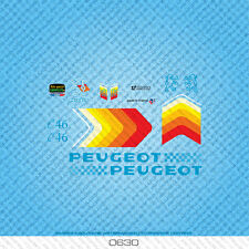 Peugeot C46 Bicycle Decals - Transfers - Stickers - Set 630