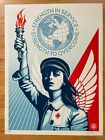 Shepard Fairey ANGEL OF HOPE AND STRENGTH Poster OBEY SCREEN PRINT Signed AP