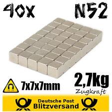 40x Neodym Magnet Würfel 7x7x7mm  Whiteboard Magnete Geocaching Magneten basteln