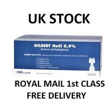 Saline Solution NaCl 0,9% 10x5ml Nebulizer Sterile  Baby Nose Eye Wash UK STOCK