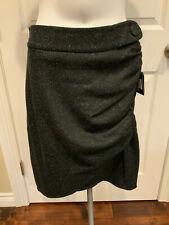 "Robert Rodriguez Granite Gray ""Shirr"" Tweed Pencil Skirt, Size 8, NWT! $335"