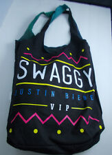 *  JUSTIN BIEBER- SWAGGY TOTE BAG :VIP members only -reversable-NEW