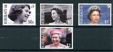 Kiribati 2012 MNH Diamond Jubilee Queen Elizabeth II 4v Set Royalty Stamps