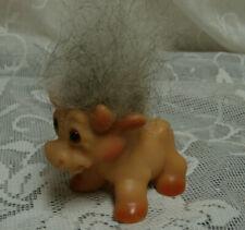 1964 Dam Things Cow Troll Doll Animal Rare Hair ( multi real?) Mane Amber Eyes