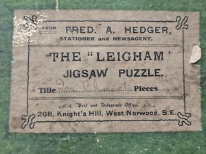 Vintage Fred A. Hedger Wooden Jigsaw Puzzle, The 'Leigham' In Church COMPLETE