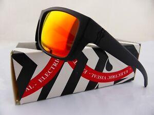 Electric SIXER Sunglasses Matte Black -  Melanin Grey Fire Chrome Lens