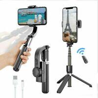 Smart Anti-Shake Selfie Stick Tripod L08 Gimbal Stabilizer Bluetooth Remote Vlog