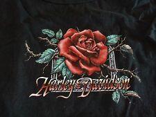"Harley Davidson Womens T-Shirt Rose ""Barnett El Paso TX"" Short Sleeve Size XL"