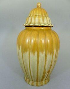 Große Keramik Deckelvase, 20er Jahre, Höhe 36 cm