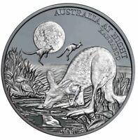 2019 KANGAROO AUSTRALIA AT NIGHT Silver Black Proof Coin Ltd Edition
