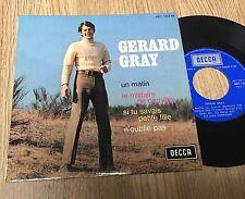 EP 45 tours Gérard Gray Un matin Le militaire de carrière Si tu savais 1968