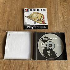 Hogs of War - Playstation 1 PS1 - PAL - Complete Black Label