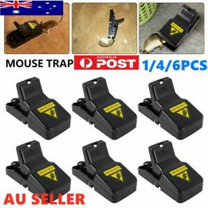 6x Plastic Mouse Traps Trap Reusable Mice Rat Snare Catcher Rodent Indoor