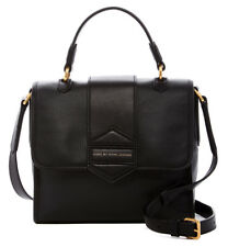 NEW Marc By Marc Jacobs Flipping Out Black Leather Top Handle Messenger NWT $448