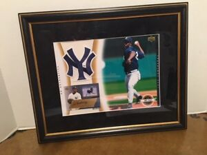 NY Yankees Jose Contreras Framed 11x13 UD Authentics Signed Picture 42/120