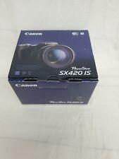 Open Box Canon PowerShot SX420 IS 20.0 MP Digital Camera - Black -NR3429 bundle