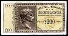 Ionian Islands. 1,000 Drachma, 0001 400246, (1941), Good Fine.