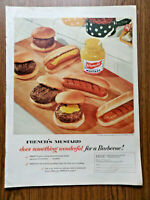 1954 French's Mustard Ad  Does Something Wonderful for a Barbecue
