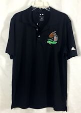 Men's ADIDAS Golf Shirt Sz L Black Puremotion Technology Embroidered Logo CTE