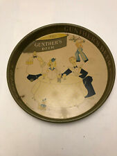 Vintage - Gunther's Beer - Beer Tray - Used - Dated 1934