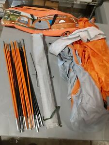 Ozark Trail Tent Dome Gray/ Orange 9'x8' Camping  Everything IN Picture 2-3