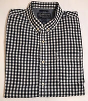 American Rag Mens Blue White Checkered Button Down Long Sleeve Shirt Size Large