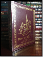 Don Quixote Illustrated by Dore Sealed Easton Press Oversized Leather Special Ed