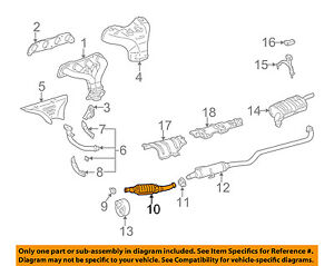 TOYOTA OEM 00-04 Corolla 1.8L-L4-Catalytic Converter 174600D070