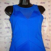 Forever 21 women small short dress mesh blue $58 spandex stretch Junior bottom