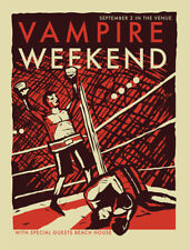 Vampire Weekend Concert Gig Poster 2010 - New