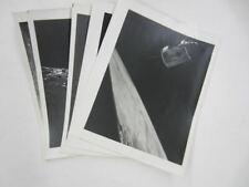 Vintage APOLLO MOON PICTURES Lot NASA Space Shuttle photo photos B&W 8 1/2 x 11