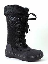 Baby Phat BP Women's Squirt Snow, Winter Lace Up Hi Boots Black Multi 6 (B, M)