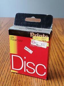 Focal, KR Focal Color, Disc Film, Color Print, 30 Exposures, exp 7/88, Sealed.