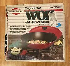 NEW West Bend Original Electric Silverstone Wok 6 1/2 Qt W/ Tempura Rack 79506X