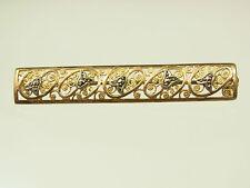 Schöne Jugendstil  Markasit Brosche 800 Silber vergoldet filligrane Blüten