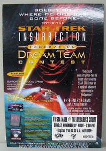 Federation Dream Team CONTEST Star Trek: Insurrection STORE COUNTERTOP STANDEE!