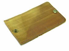 """VINTAGE BROWN LEATHER MENS KEY TAINER HOLDER POUCH 3-5/8"""" WIDE"""