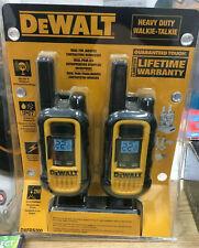 DeWalt Heavy Duty 2 Way Radio Walkie Talkie Dxfrs300 22 Channels Work Radios New