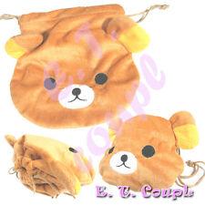 1 Korilakkuma Lazy Relax BRW bear soft drawstring bag