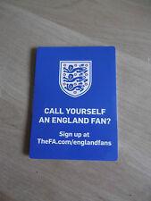England Football Officiel FA poche Match Guide & fans club membership détails