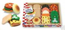 MELISSA & DOUG SANDWICH-MAKING SET - WOODEN TOY (NEW)