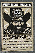 Los Straightjackets John Doe Lauderdale SXSW Music Fest Concert Poster Austin