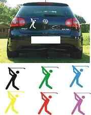 Autoaufkleber Golfsport Golfer Golfspieler Piktogramm 15x10cm diverse Farben!
