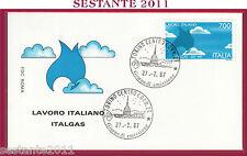 ITALIA FDC ROMA LAVORO ITALIANO 1987 ANNULLO TORINO ITALGAS Z715