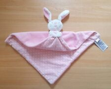 Mothercare Butterfly Fields Rabbit - Pink & Spotty Baby Blanket Comforter