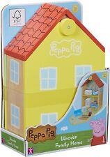 Peppa Pig de Madera Familia Hogar Casa Playset Juguete & Figura